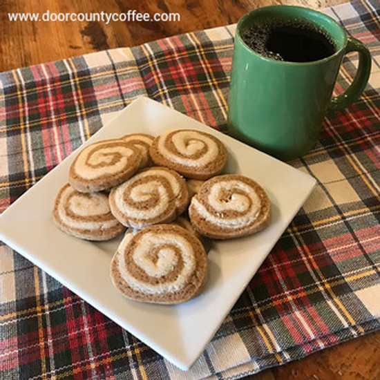 Gingerbread Spice Latte Pinwheel Cookies