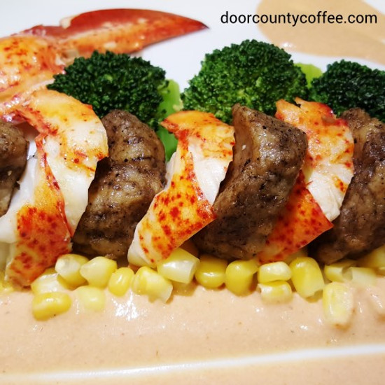 Espresso Gnocchi & Lobster with Lobster Sauce
