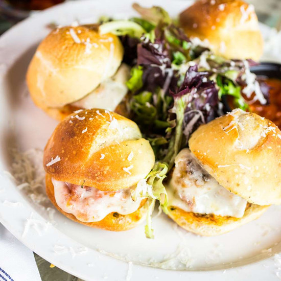 Tangy Barbecue Meatball Sliders