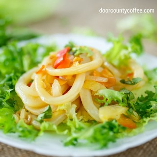 Coffee Onion Salad with Coffee Vinaigrette