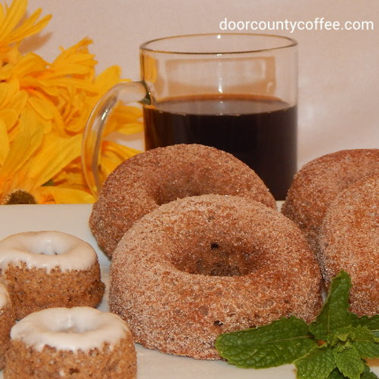 Frosted Cinnamon Bun Coffee Donuts