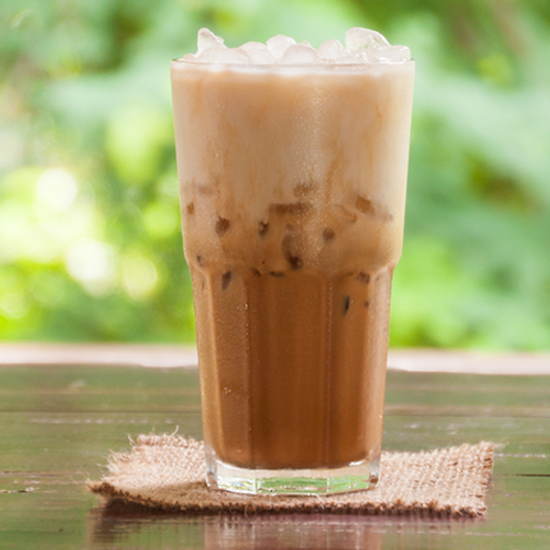 Blueberry Cobbler Coconut Iced Coffee