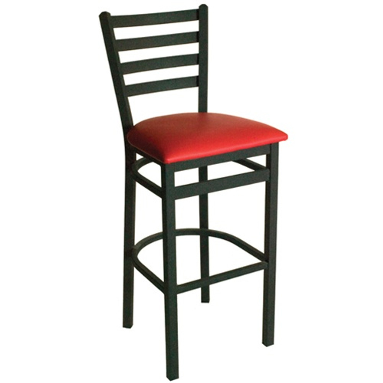 Picture of: Bfm Seating Lima Metal Ladder Back Restaurant Bar Stool With Padded Seat 2160b Sbv Pub Bar Stools Commercial Bar Stools