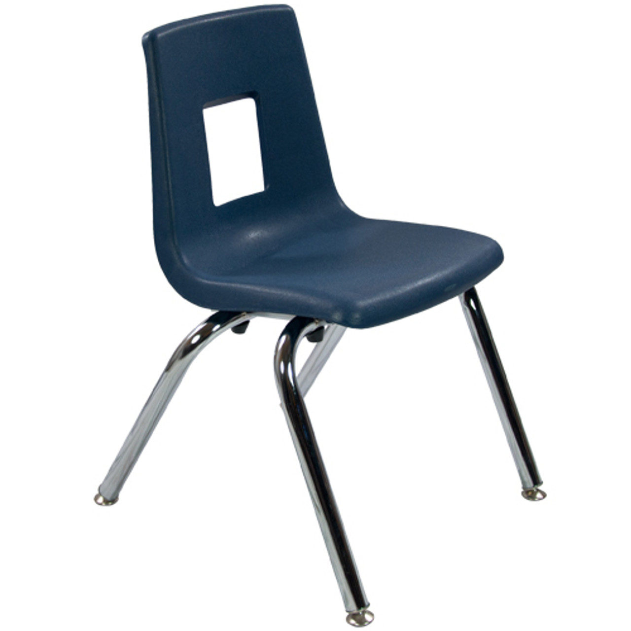 Navy Stack Chair 14in | Student Chairs | Classroom