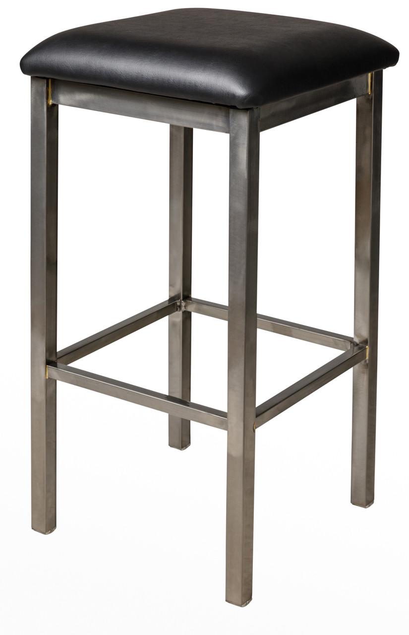 Enjoyable Bfm Seating Trent Clear Coat Metal Backless Bar Stool With Vinyl Seat 2510Bv Cl Creativecarmelina Interior Chair Design Creativecarmelinacom