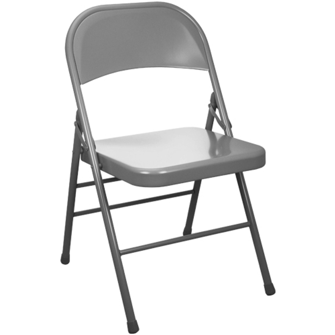 Advantage Gray Metal Folding Chair Edpi903m Grey
