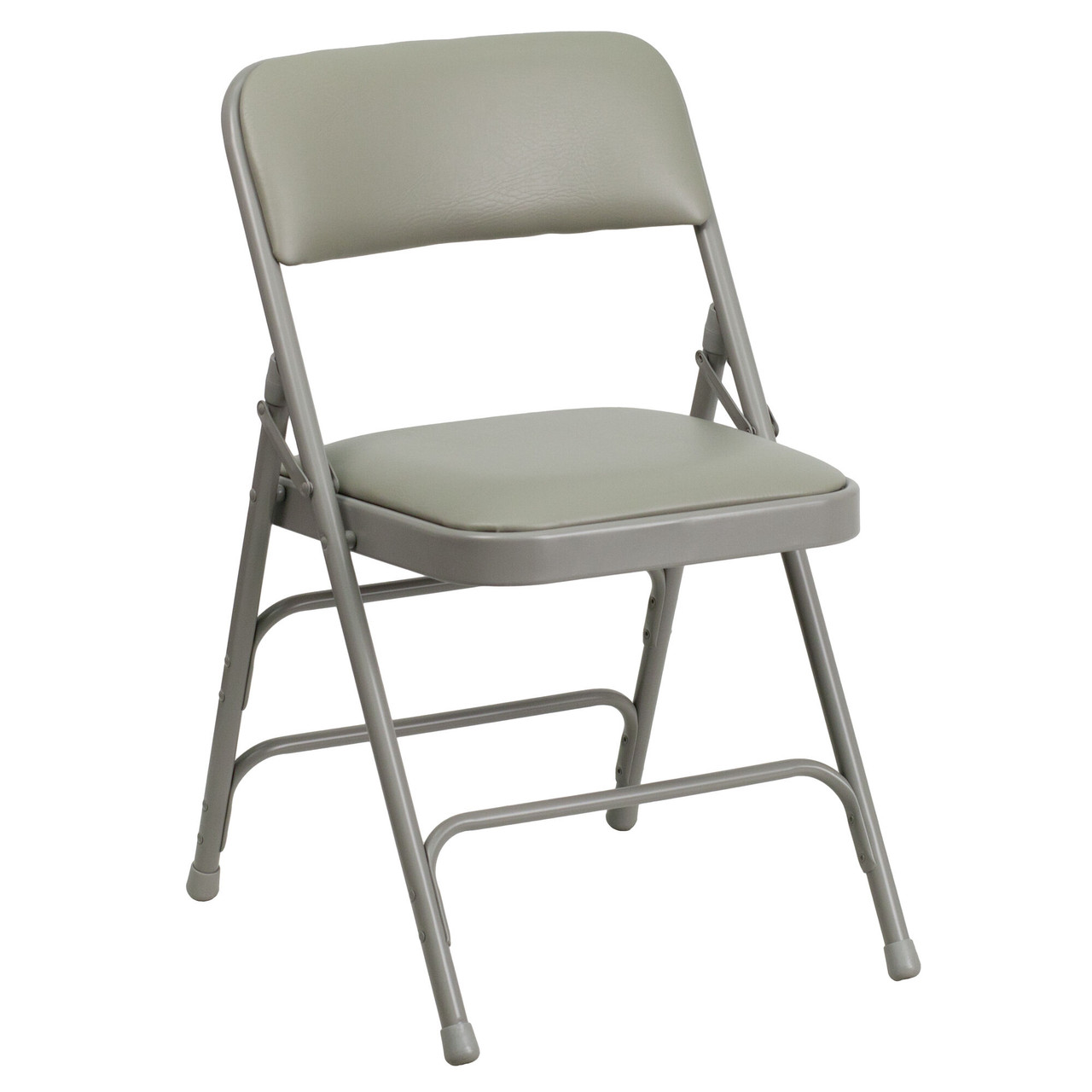 Advantage Grey Padded Metal Folding Chair Dove Grey 1 In Vinyl Seat Ha Mc309av Gy Gg