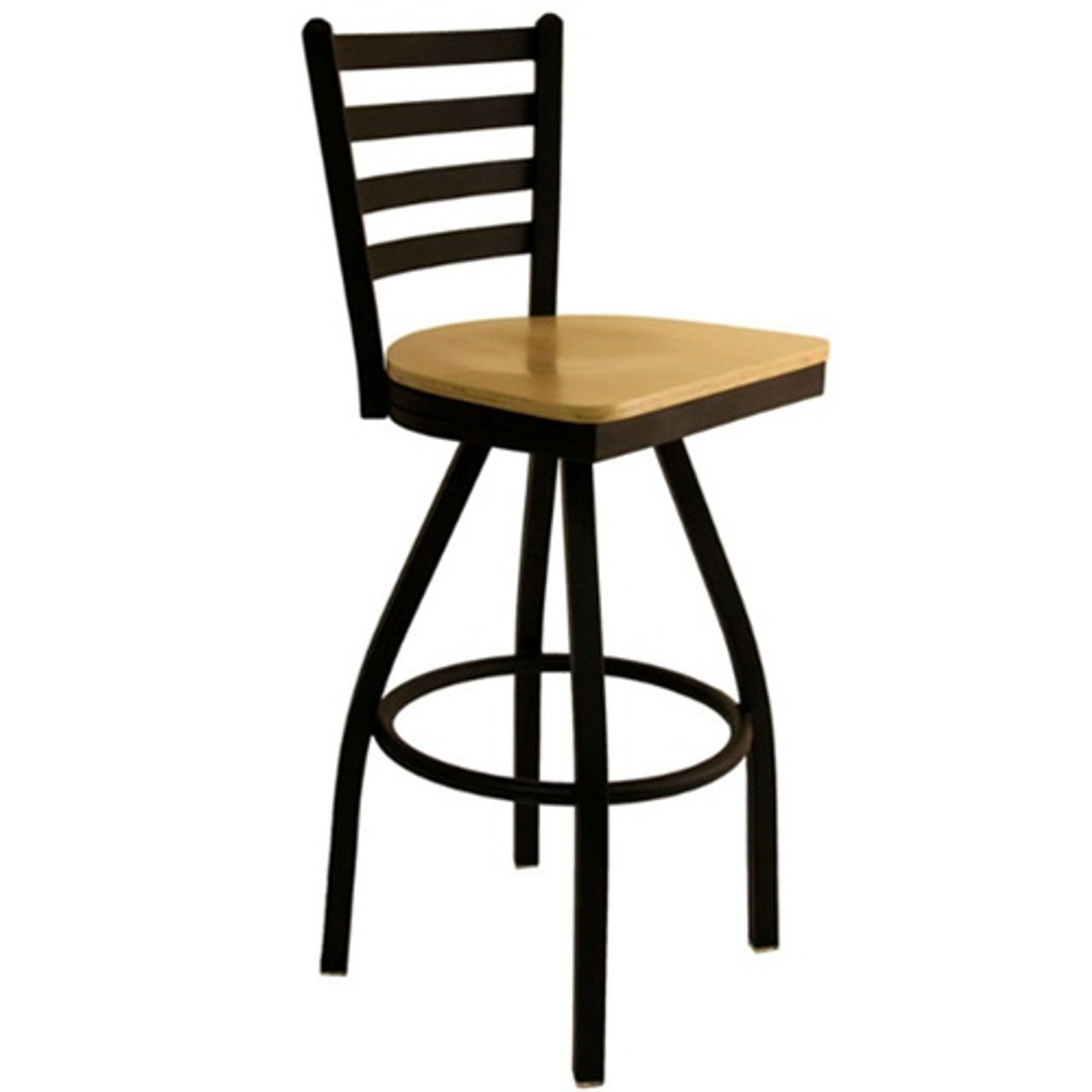 Wondrous Bfm Seating Lima Black Metal Ladder Back Restaurant Swivel Bar Stools 2160S Sbw Forskolin Free Trial Chair Design Images Forskolin Free Trialorg