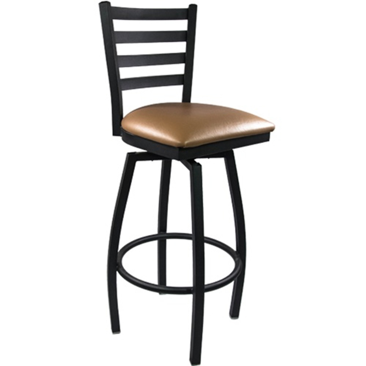 Brilliant Advantage Ladder Back Metal Swivel Bar Stool Beige Padded Sblb Bfbgv Squirreltailoven Fun Painted Chair Ideas Images Squirreltailovenorg