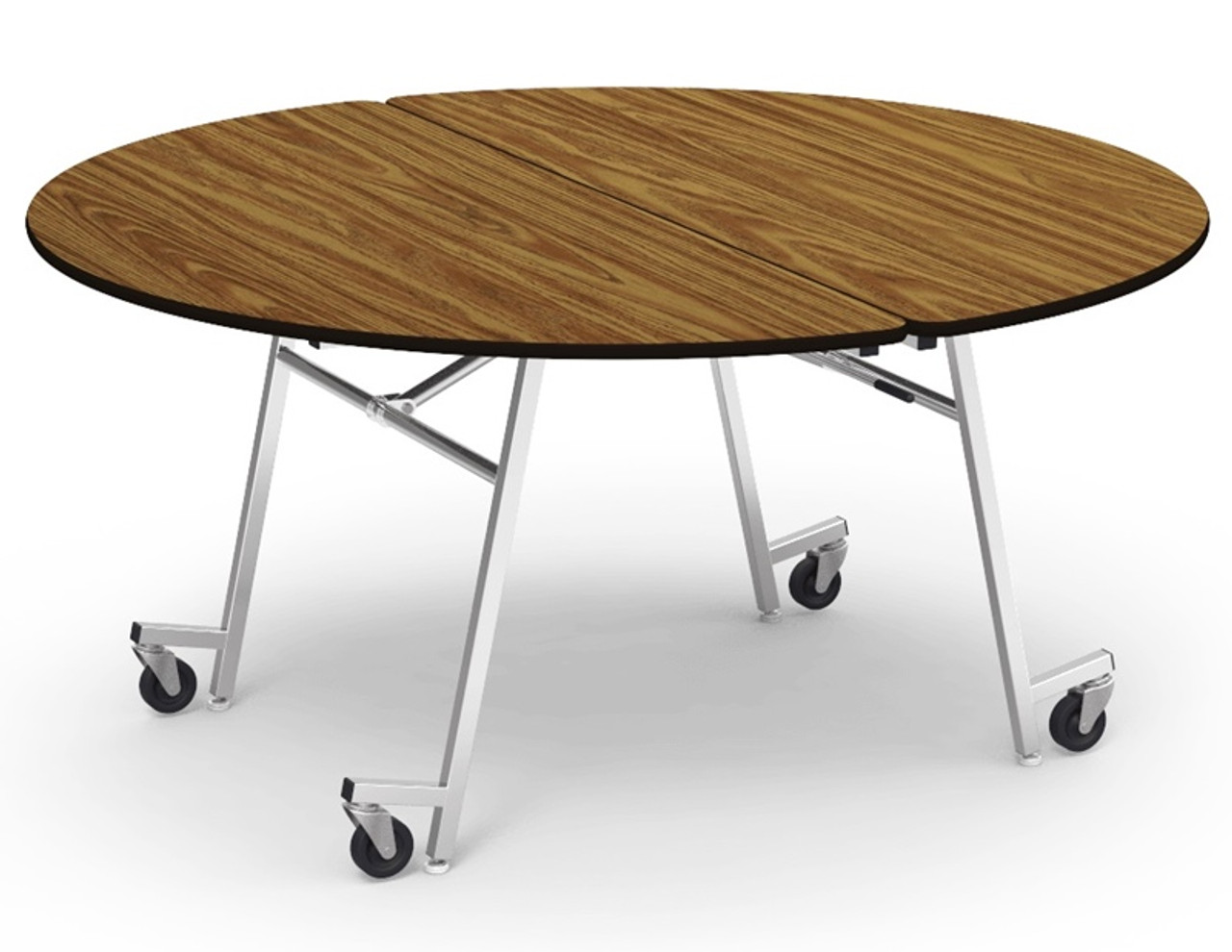 Virco Mt60r 60 In Round Mobile Cafeteria Table Cafeteria Tables School Cafeteria Seating For Sale