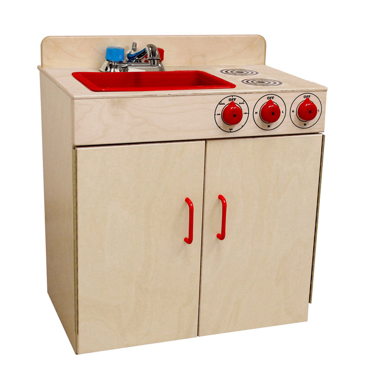 Wood Designs Kids Combination Play Sink And Play Stove [10500-WDD]