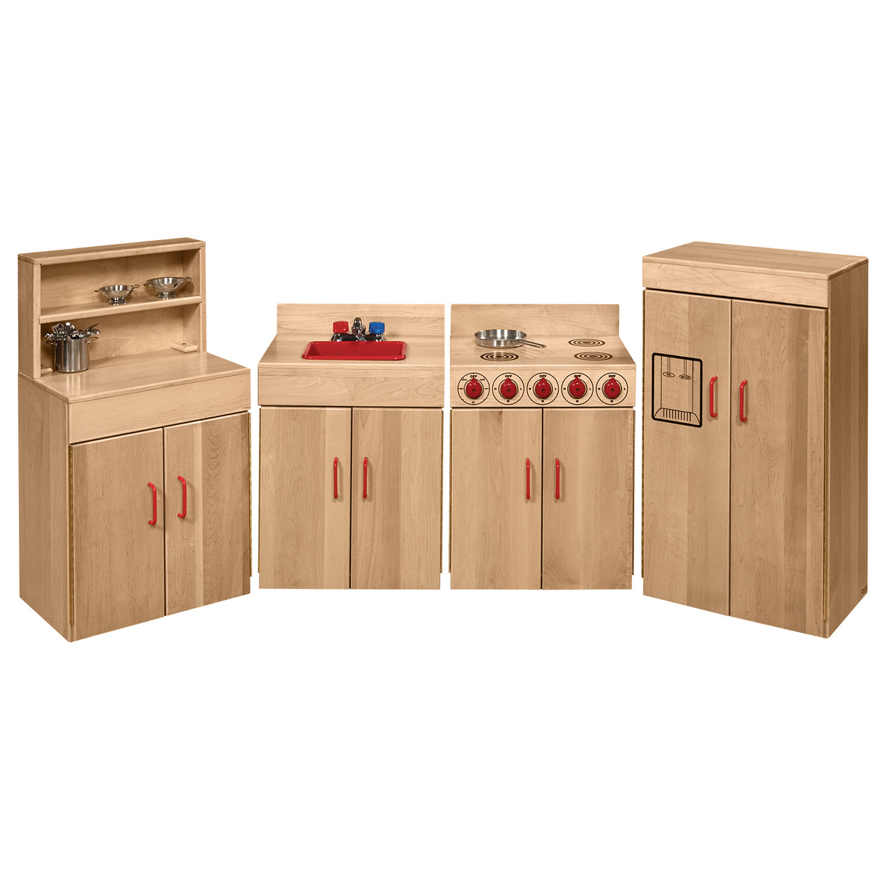 Children Wooden Play Kitchen Set Pretend Role Cook Learning ...