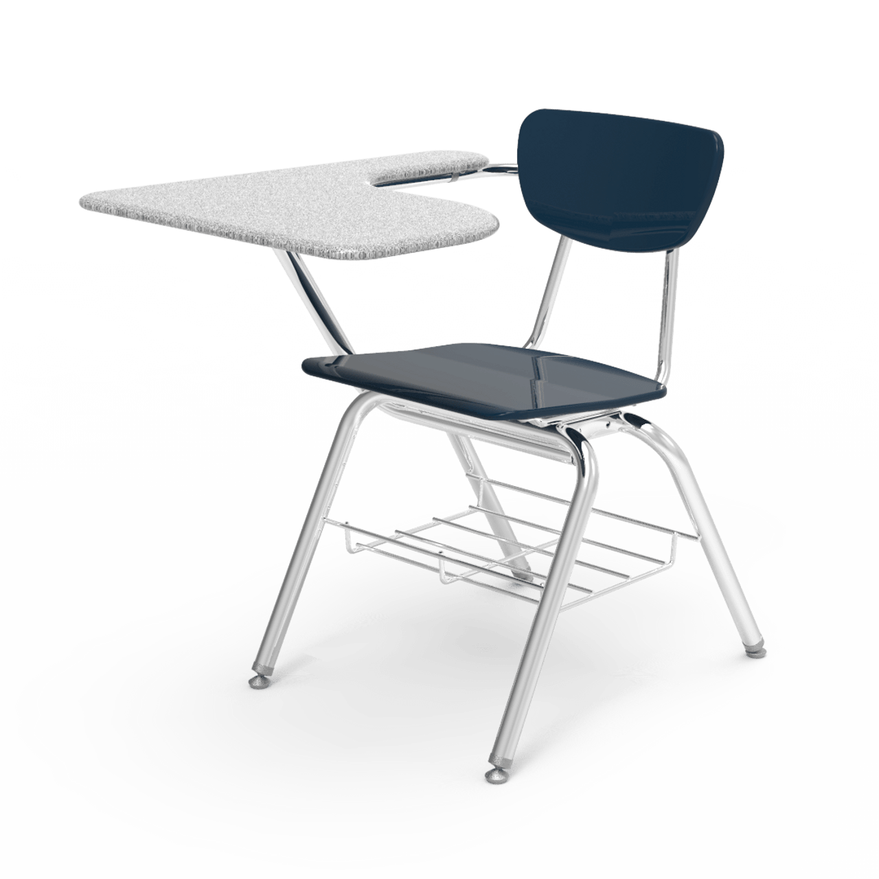 Superb Virco 3000 Series Navy Chair Desk With Tablet Arm And Bookrack 3700Brm 2 Pack Pdpeps Interior Chair Design Pdpepsorg