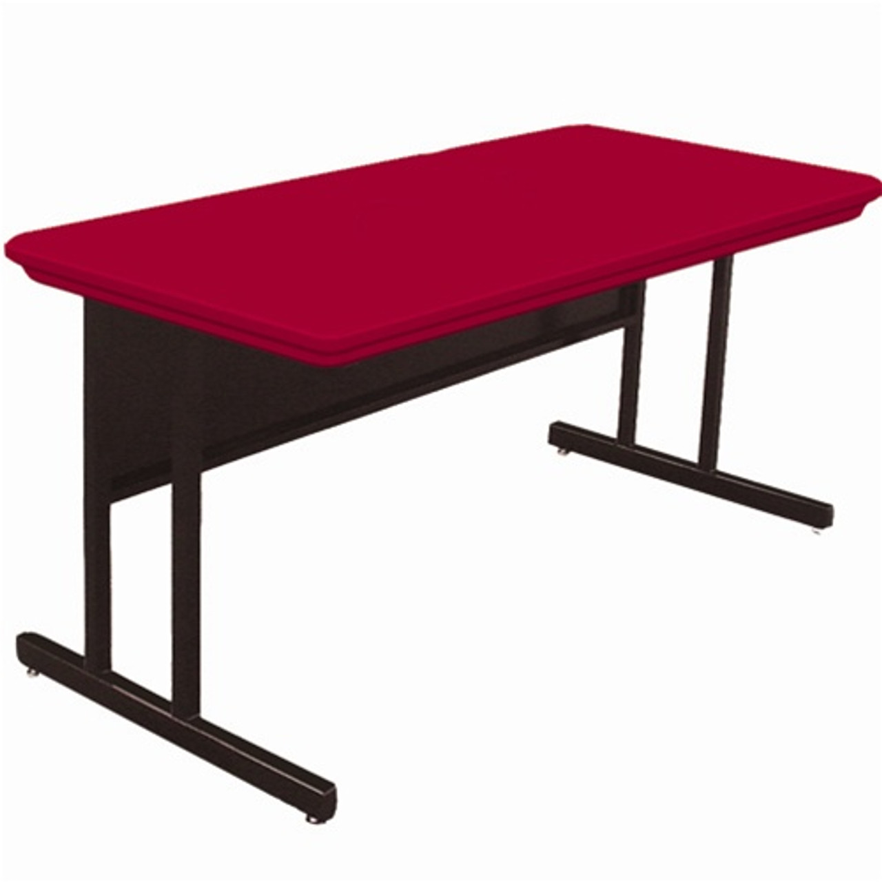 Correll 6 Ft Computer Table Desk Height Blow Molded Top Rws3072