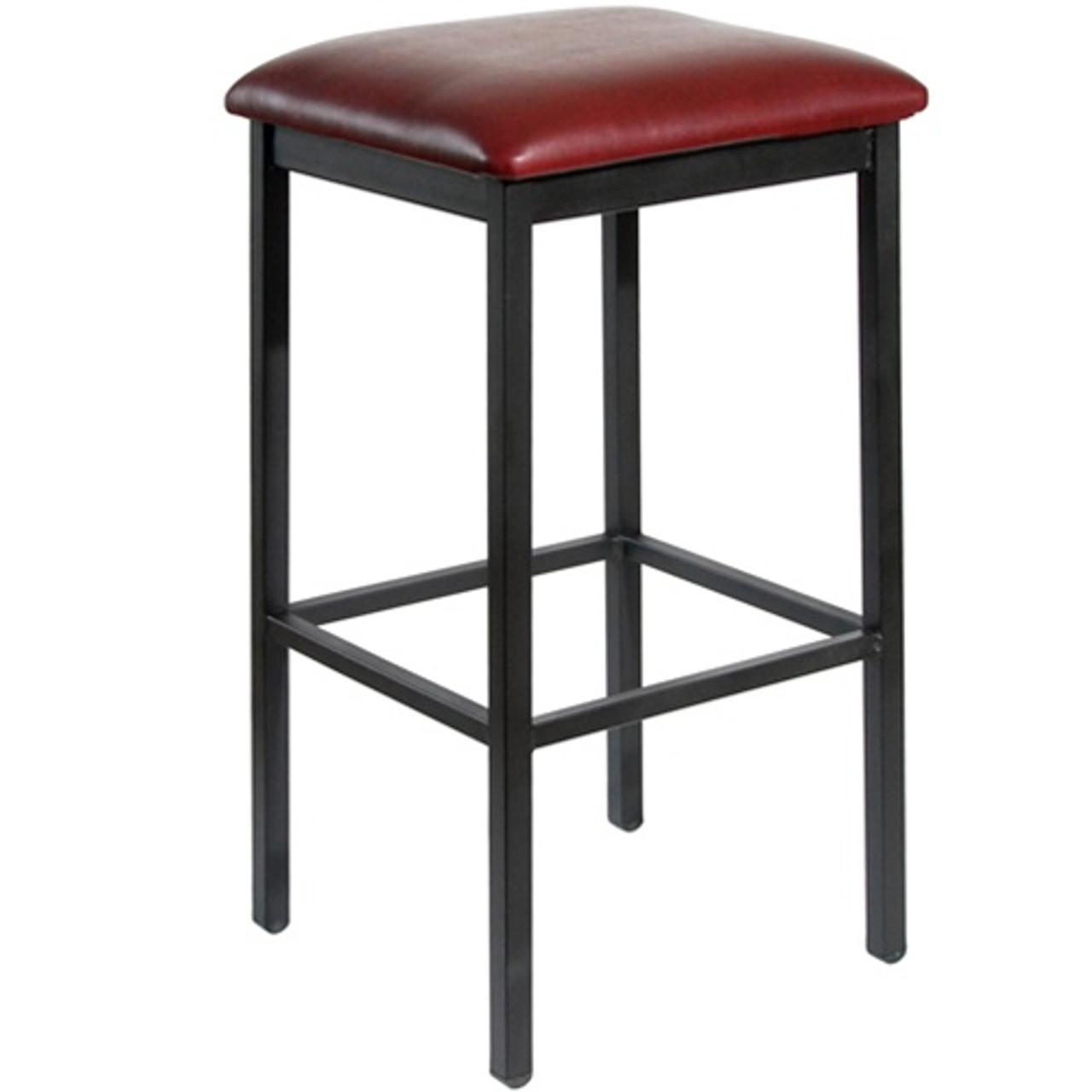 Swell Bfm Seating Trent Black Metal Backless Bar Stool With Vinyl Seat 2510B Sb Creativecarmelina Interior Chair Design Creativecarmelinacom