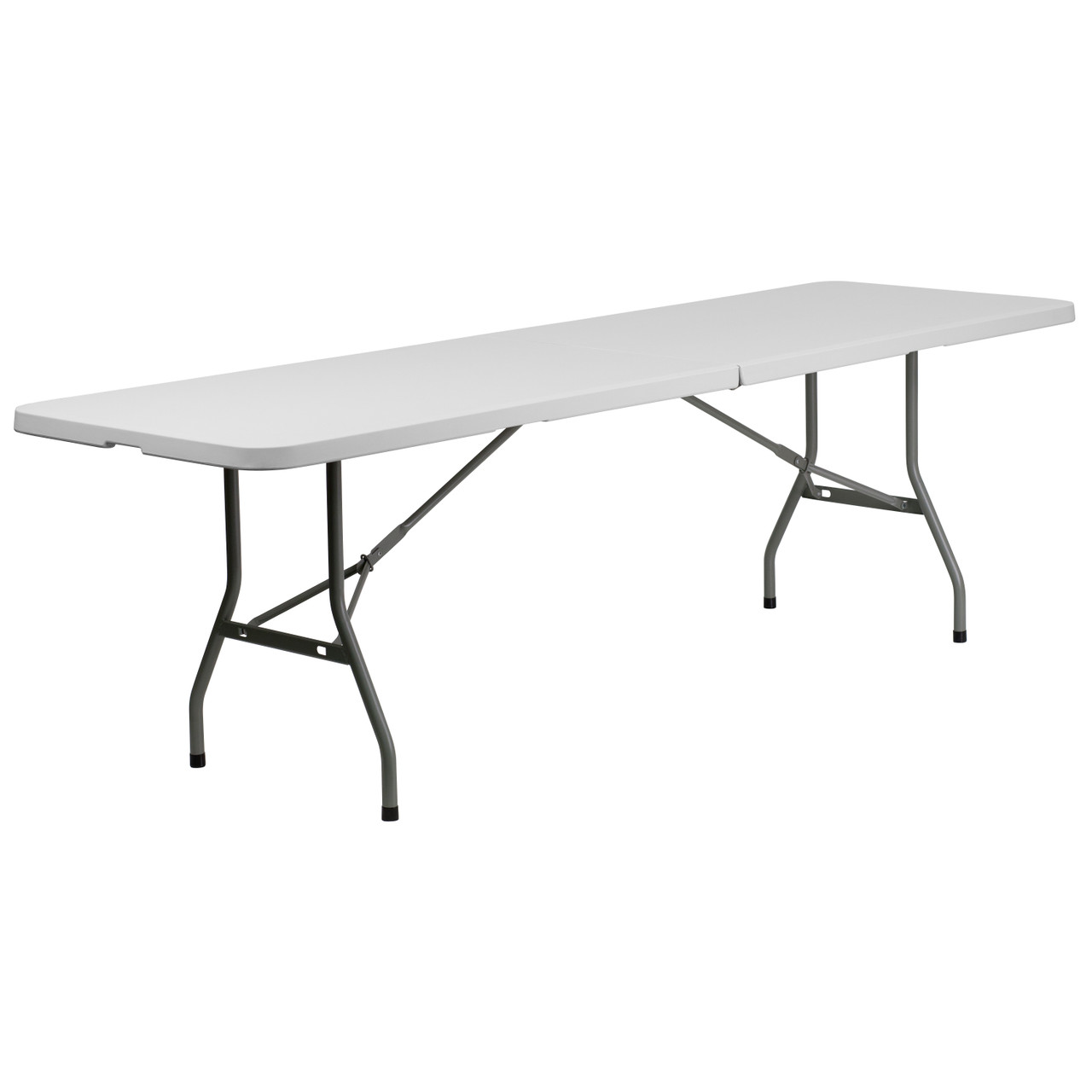 Folding Table With Handle.5 Pack Advantage 8 Foot Bi Fold Granite White Plastic Banquet Folding Table With Handle 5 Rb 3096fh Gg