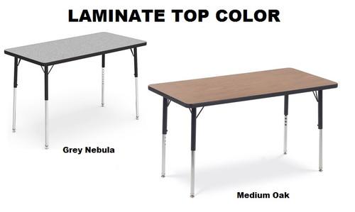 Virco Rectangular 30x60 Activity Table Kids Activity Tables Classroom Activity Tables