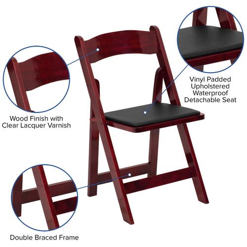 Surprising Advantage Wood Folding Wedding Chair Mahogany Xf 2903 Mah Wood Gg Frankydiablos Diy Chair Ideas Frankydiabloscom