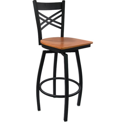 Prime Advantage Cross Back Metal Swivel Bar Stool Cherry Wood Seat Sbxb Bfcw Squirreltailoven Fun Painted Chair Ideas Images Squirreltailovenorg