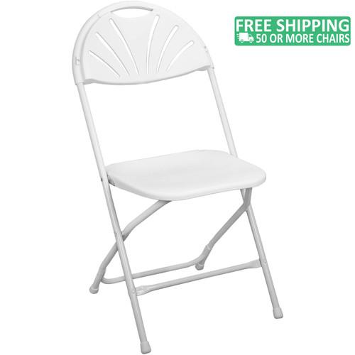 Admirable Advantage White Fan Back Plastic Folding Chair Ppfcfanback Wht Pabps2019 Chair Design Images Pabps2019Com