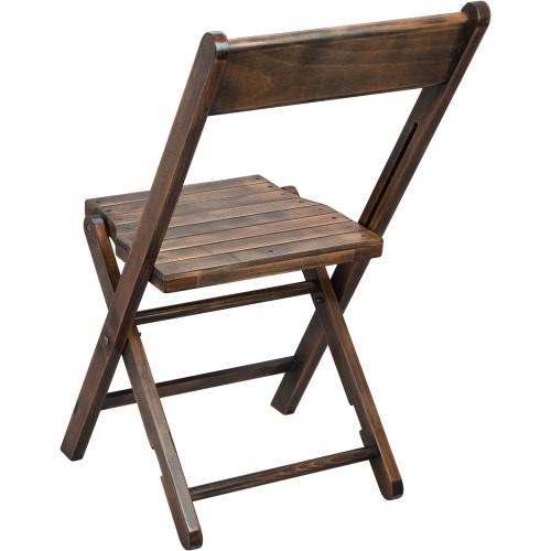 Superb Advantage Slatted Wood Folding Wedding Chair Antique Black Wfc Slat Ab Machost Co Dining Chair Design Ideas Machostcouk