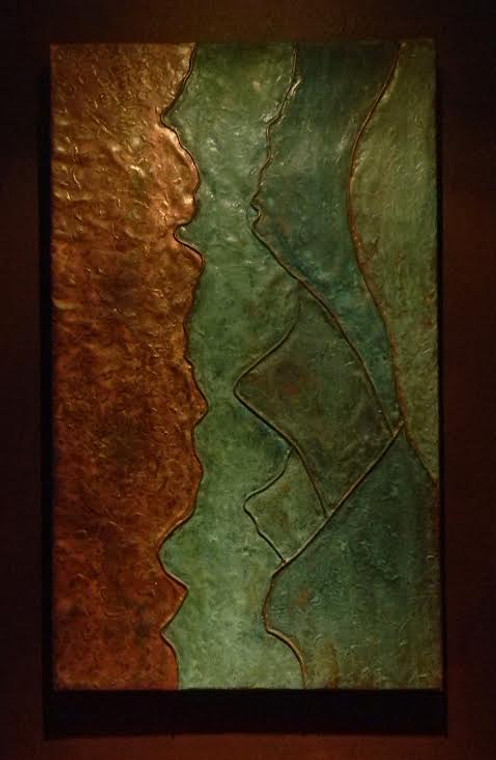 Cool piece for your walls! Modern Rustic Copper Art.  Free shipping!