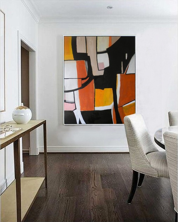 """In the Spirit of Picasso and Diebenkorn An Original Abstract Painting on Canvas by Matt Dougan  48""""x 60""""Free shipping Anywhere!"""