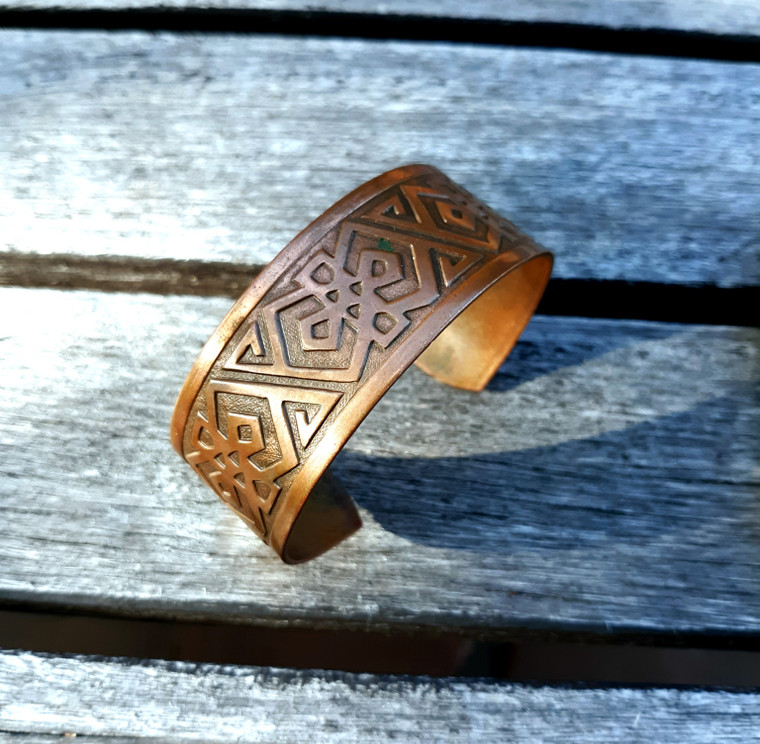 Rock Star Cool! Celtic styled Copper Bracelet Free shipping!