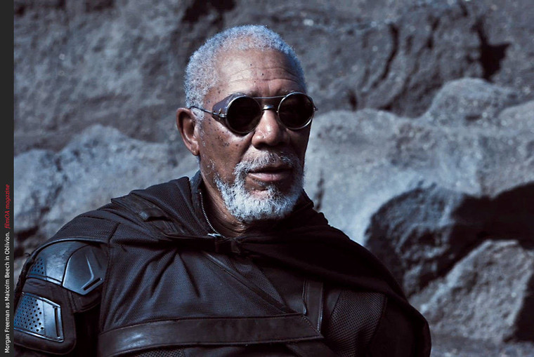 This is the EXACT sunglasses worn by Morgan Freeman in the 2014 movie oblivion with he and Tom Cruise shown without the leather nose piece. The props department for this movie purchased the original pair from me.