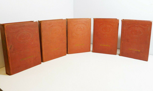 Set of 5 -  The Latest Books of Conan Doyle - Illustrated - Copyright 1900's