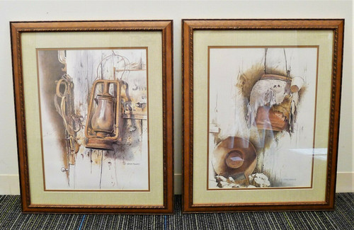 "Set of 2 Gene Franks Framed Prints -  ""The Lantern"" and ""The Water Jug"""