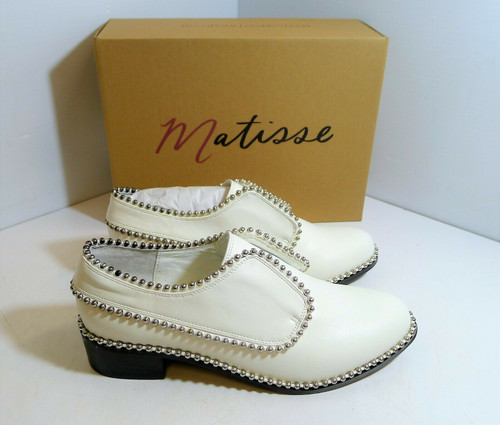 Matisse Women's Alexa White Silver Studded Dress Casual Shoes Size 9 M