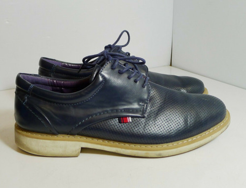 Phat Classic Men's Oxfords Dress Shoes in Blue Size 10