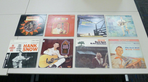 Set of 8 Hank Snow Vintage Vinyl LP Records