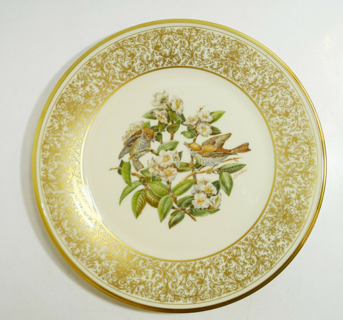 Lenox Boehm Bird  A Limited Annual Edition The Wood Thrush Collector Plate 1970