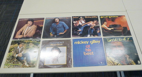 Set of 8 Mickey Gilley Vintage Vinyl LP Records - Smokin', Encore, and More