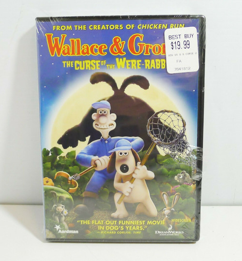 Wallace & Gromit The Curse of the Were-Rabbit DVD - NEW - Sealed