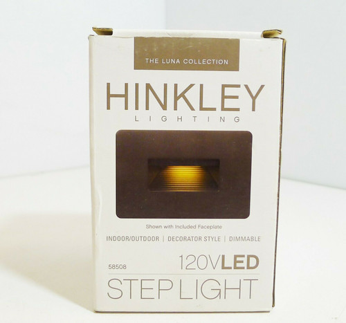 Hinkley Landscape Lighting LED Luna Step Light in Bronze Finish 58508  NEW