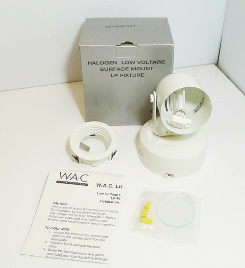 WAC Lighting LP-808-WT Halogen Low Voltage Surface Mount LP White NEW - Open Box
