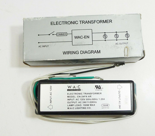 WAC Electronic Transformer 120V/24V 150W  EN-24PX-AR  OPEN BOX