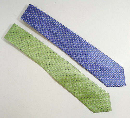 Set of 2 Michael Kors Men's Neck Ties - One Blue and One Green