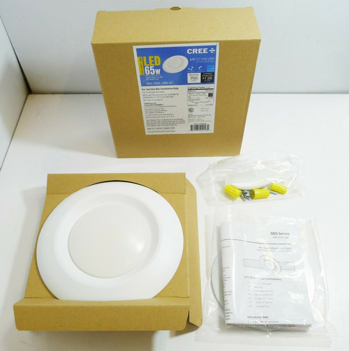 "Cree LED Lighting DS6-700L-30K-U1 6"" White Light LED Flush - NEW - Open Box"