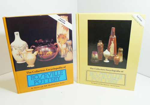 Set of 2 Roseville Pottery - First and Second Series - Hardback Books