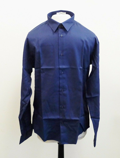 Sauvage Men's Blue Long Sleeve Uniform Shirt Size Large - NEW