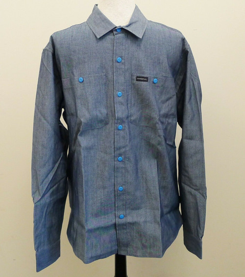 Magpul Men's Aegean Blue Chambray Long Sleeve Shirt Size Large - NEW