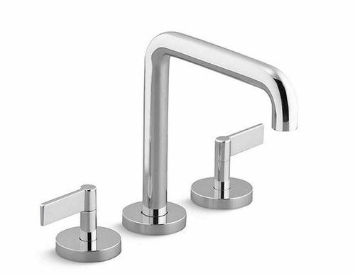 Kallista One Deck-Mount Bath Faucet Set Tall-Spout, Lever Handles in Chrome