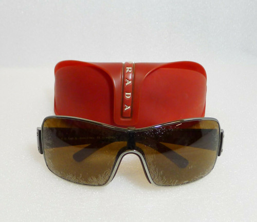 Prada Brown Sunglasses SPS 50E 2BR-5Y1 125 with Case -  **Lens Need Replaced