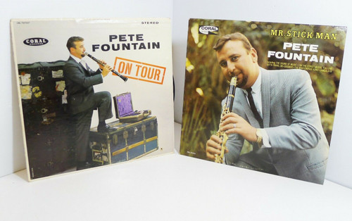 Set of 2 Pete Fountain Vintage Vinyl LP Records - Mr. Stick Man and On Tour