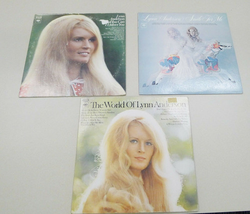 Lynn Anderson Vintage Vinyl LP Records Set of 3 - Smile for Me and More