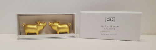 CB2 Bubba and Betty Lou Gold Small Salt and Pepper Shakers 221-837